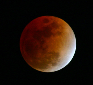 Feb 20th 2008 The total lunar eclipse will turn the Moon red.