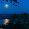 Moon over Lake Morat