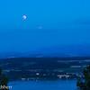 Lunar eclipse over Lake Morat