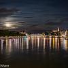 Full moon over the Rhine