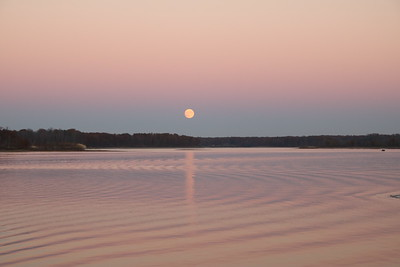 Super Moon over West Branch Lake Ohio