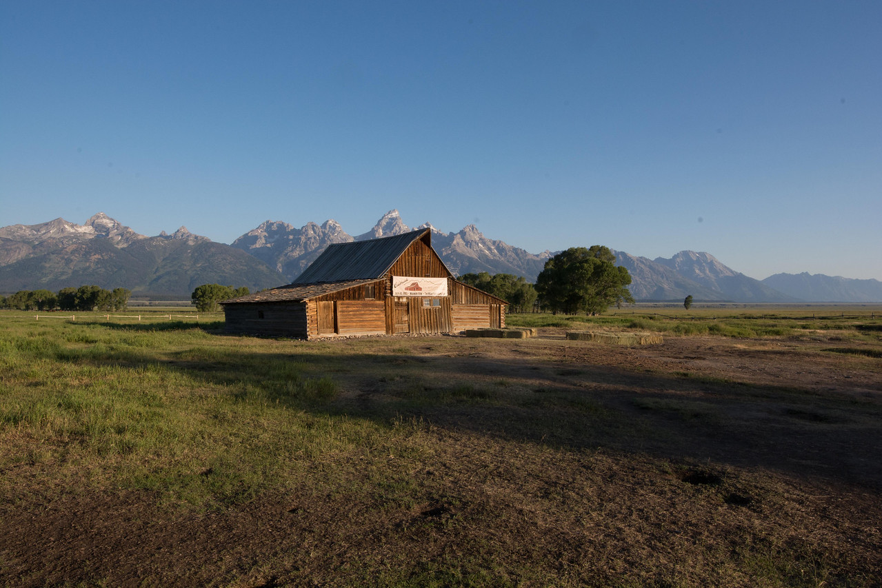 "With the Grand Tetons as a backdrop, it's easy to see why they have called this:<br /> ""The Most Photographed Barn in America"""