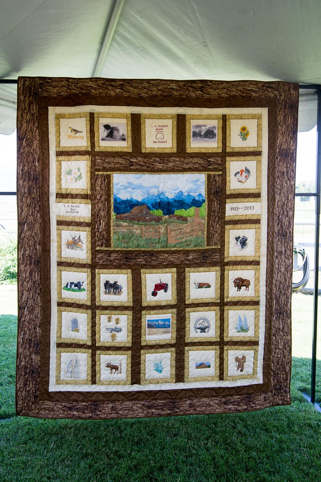 Quilt auctioned off to benefit the Barn restoration.  WOW!