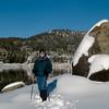 Pinecrest Lake in Winter