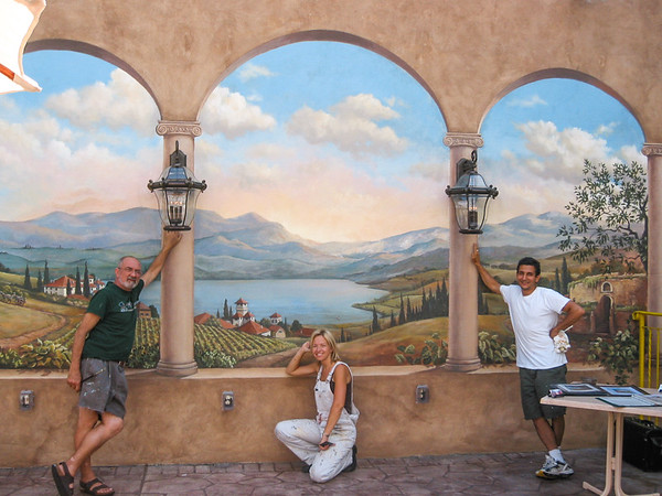 Collaborative Mural with Scenic Artist Paul Tappenden