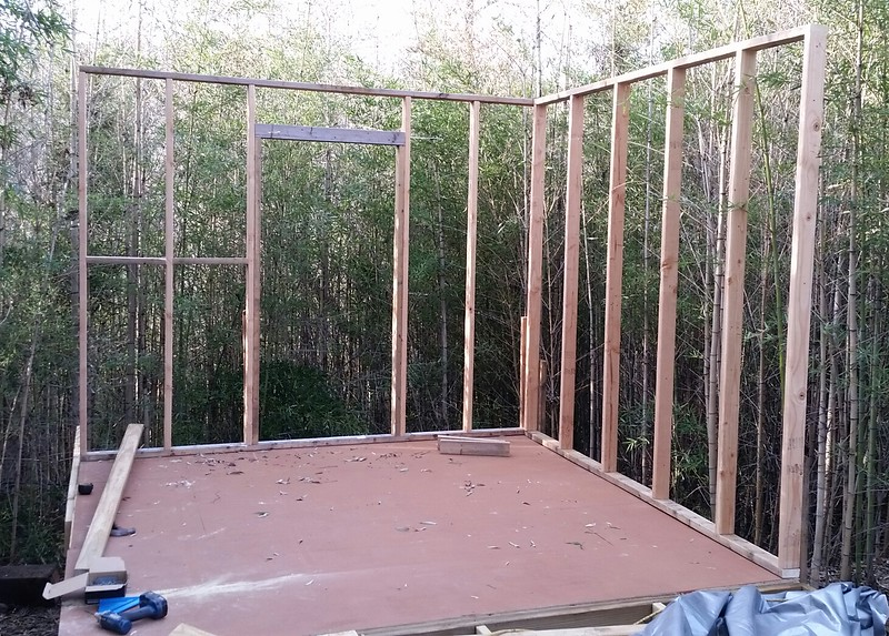 Two wall frames up!