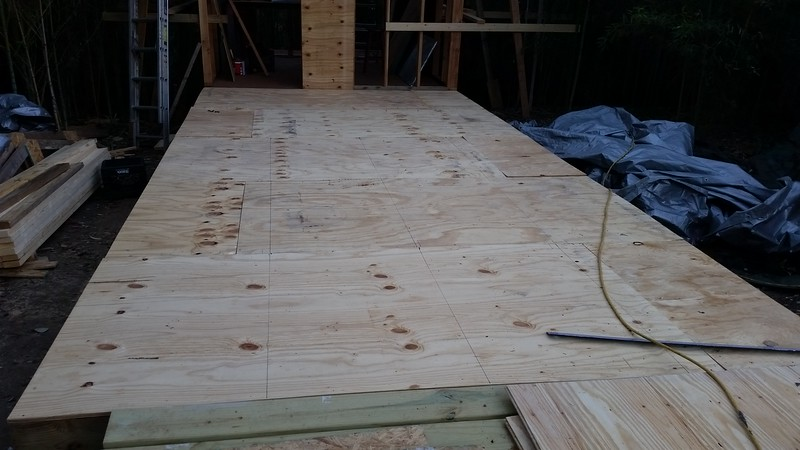 "1/2"" subfloor down"