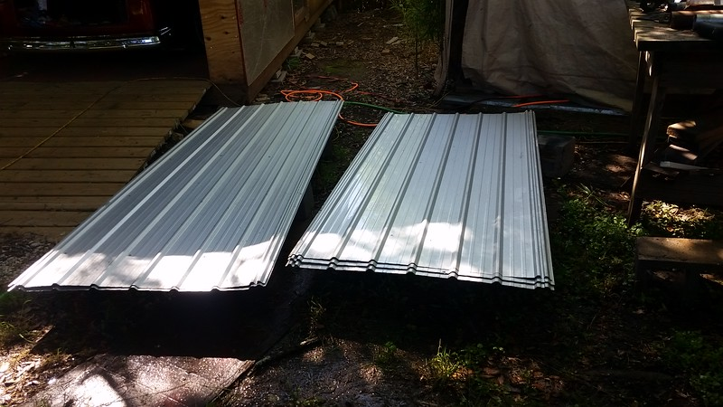 Found these Roofing panels on Craigslist and got them really cheap. Yay