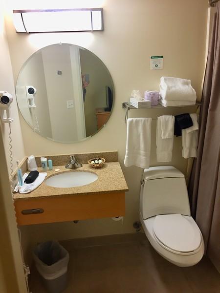 La salle de bain privée avec douche