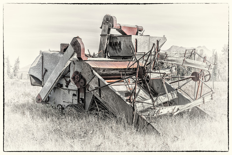 Combine  -  Polebridge, Flathead Co., MT