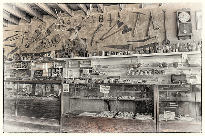 Front Counter - Polebridge Mercantile Store  -  Polebridge, Flathead Co., MT