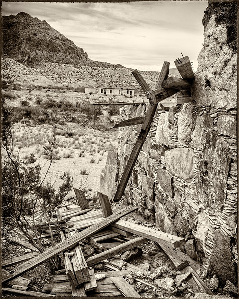 Out Buildings Detail  - Former Mariscal  Mercury Mine Site - Big Bend N.P., TX