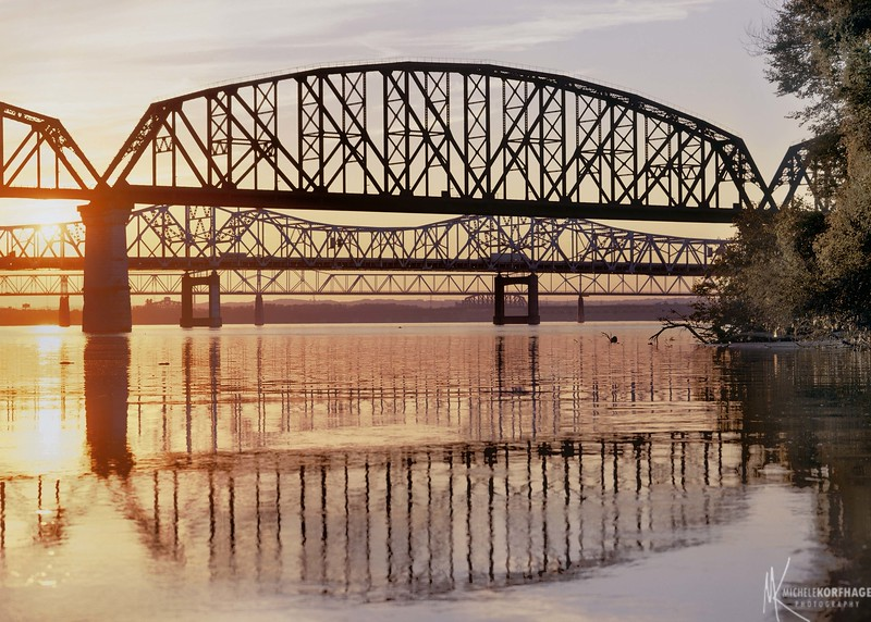 Four Bridges on the Ohio River