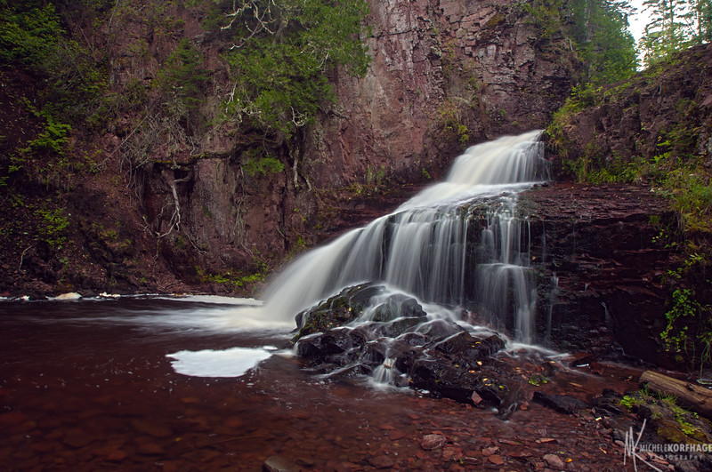 Kadunce River Cascading Waterfall