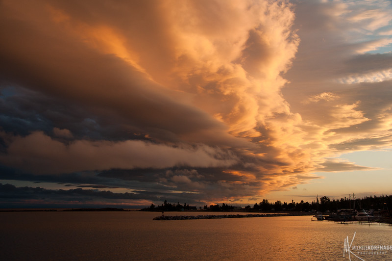 Grand Marais Harbor after a Storm 1