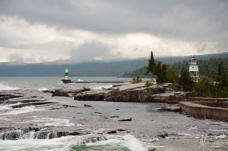 Grand Marais Lighthouse after the Storm