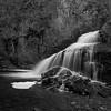 Kadunce River Cascading Waterfall_BW