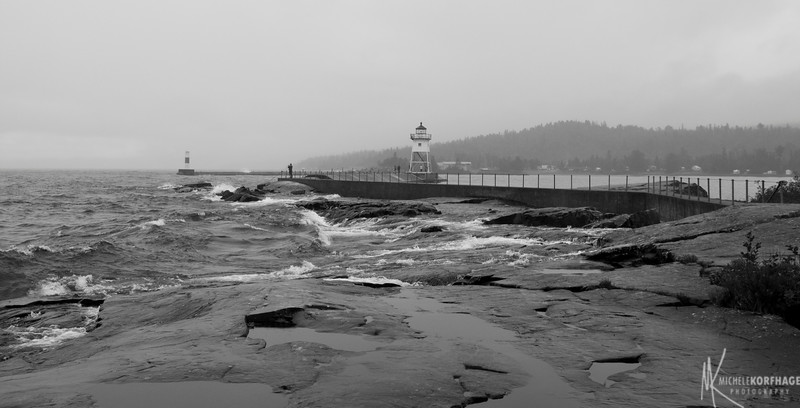 Grand Marais Lighthouse in the Storm