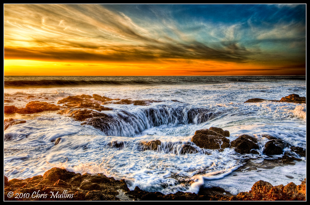 Thor's Well, found at Cook's Chasm on the central oregon coast, is a unique and beautiful place. Be warned though, standing this far out on the rocks for the picture is only for those willing to get soaks and potentially killed...