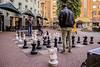 Public chess board. Amsterdam.