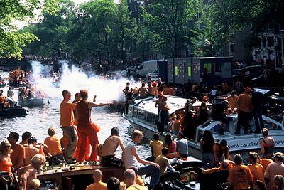Koninginnedag Amsterdam (Queensday) 2004