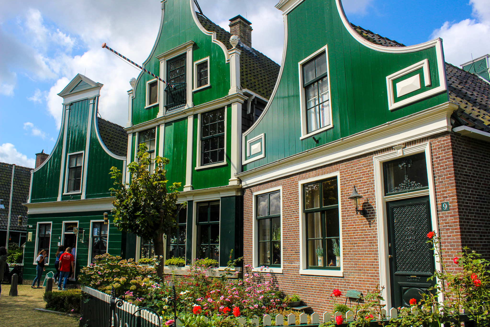 zaanse schans things to do: checking out green painted houses