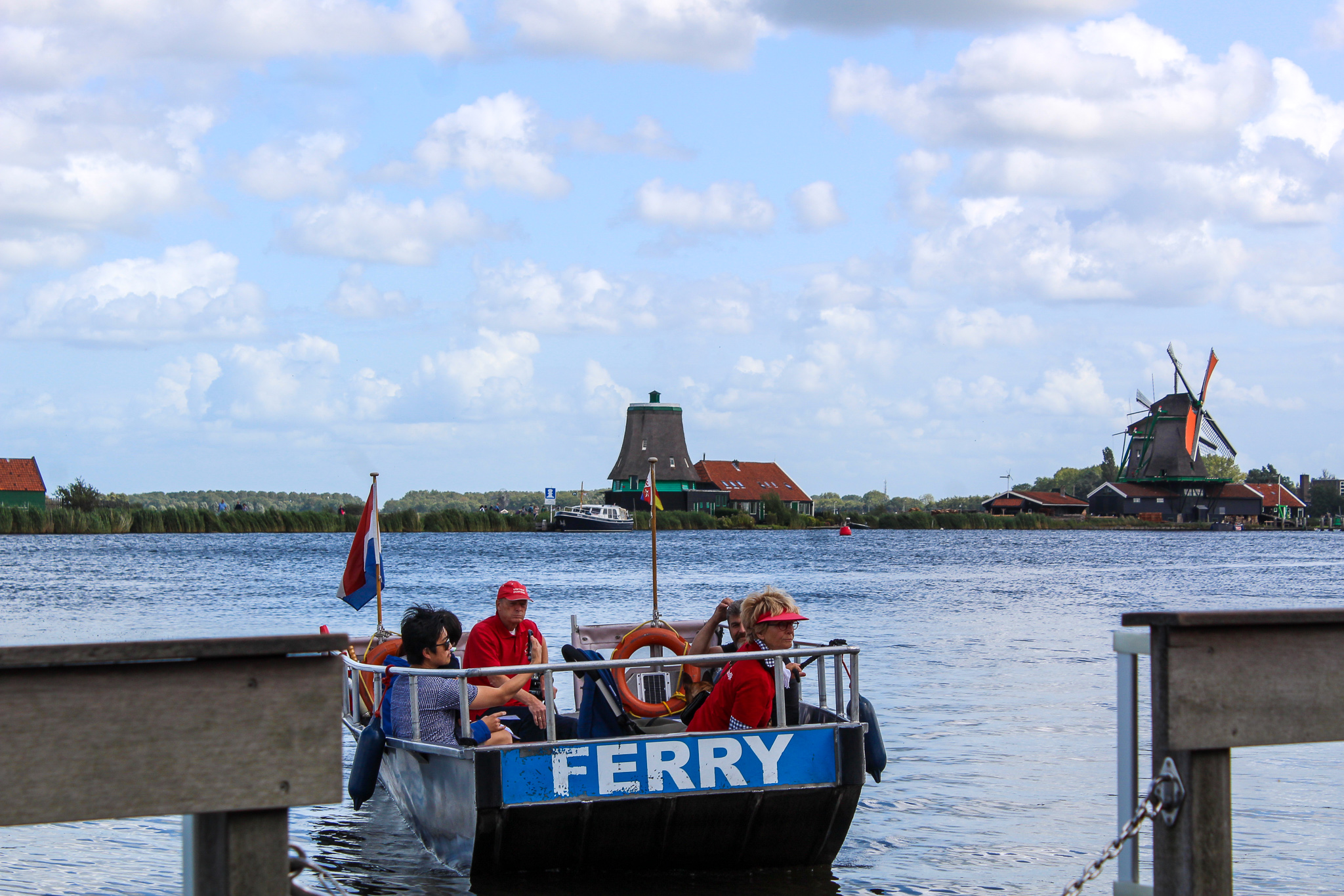 the adorable ferry is one of the things to do in zaanse schans