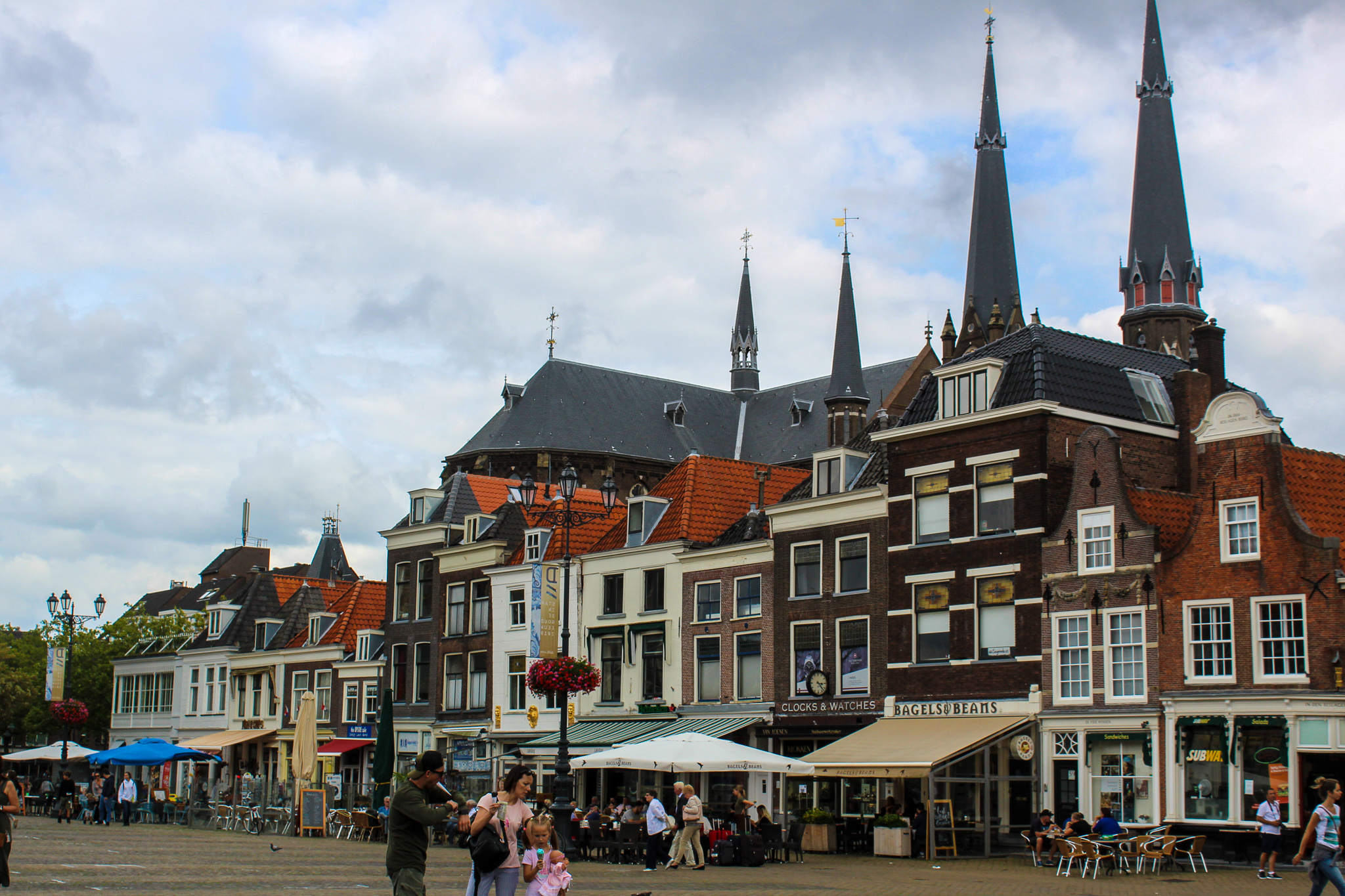 visiting delft? go to the main square