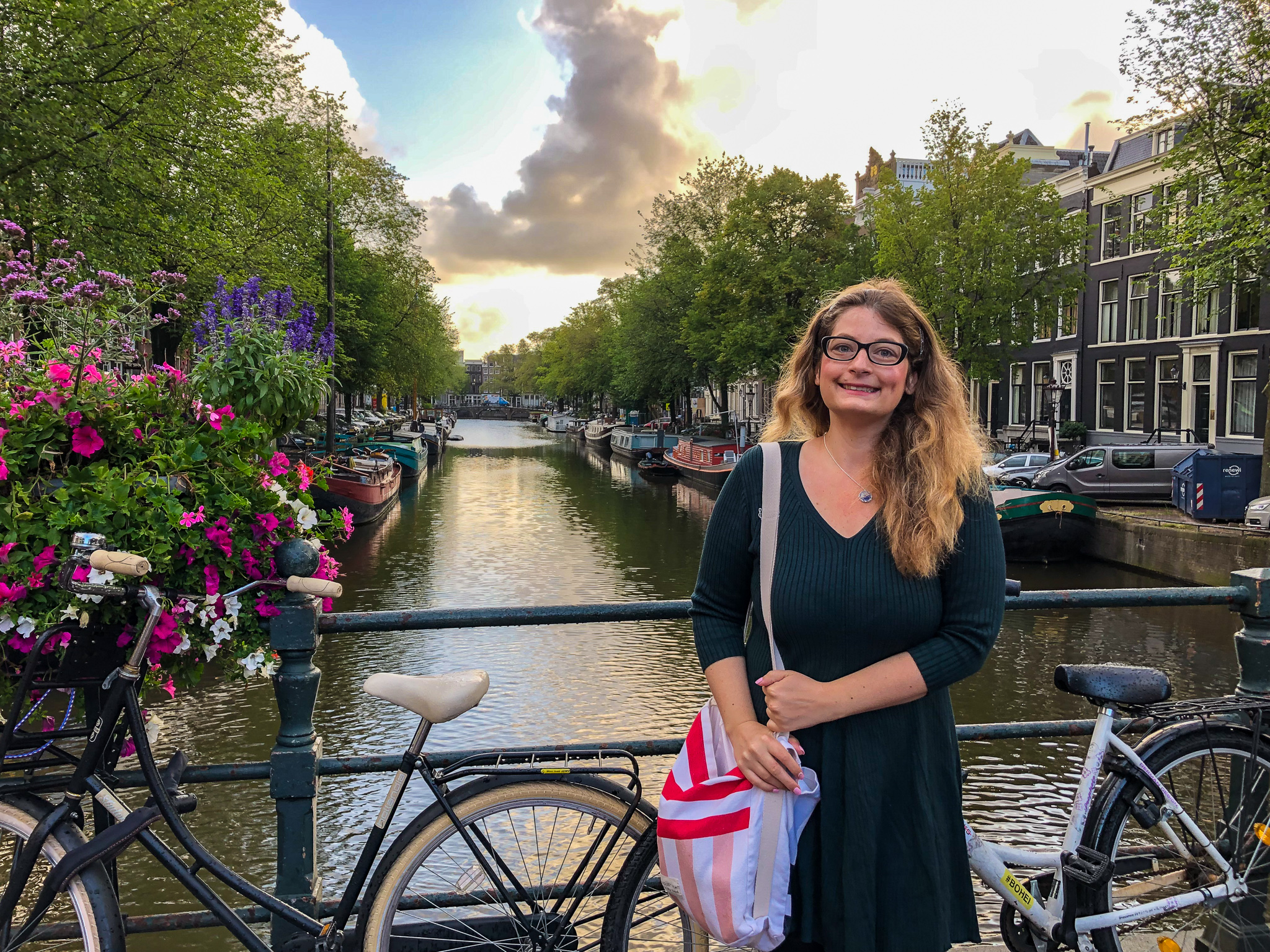 sightseeing in amsterdam in two days includes posing at canals