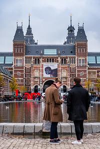 View of Rijksmuseum in Amsterdam