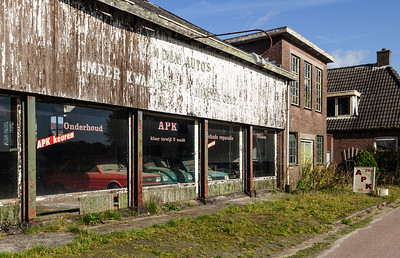 Derelict car showroom in Hoogersmilde