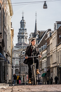 Cyclist in Maastricht