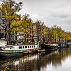 Canal and boat houses in Amsterdam