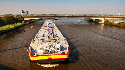 Barge on the Amsterdam-Rhine Canal