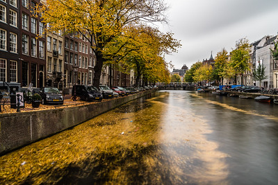 Canal in Amsterdam in Autumn
