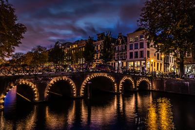 Beautiful canal in Amsterdam