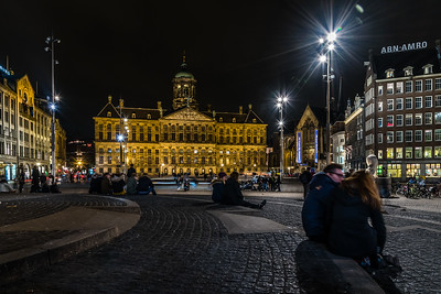 The Dam Square in Amsterdam