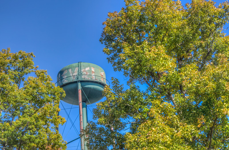 The iconic water tower