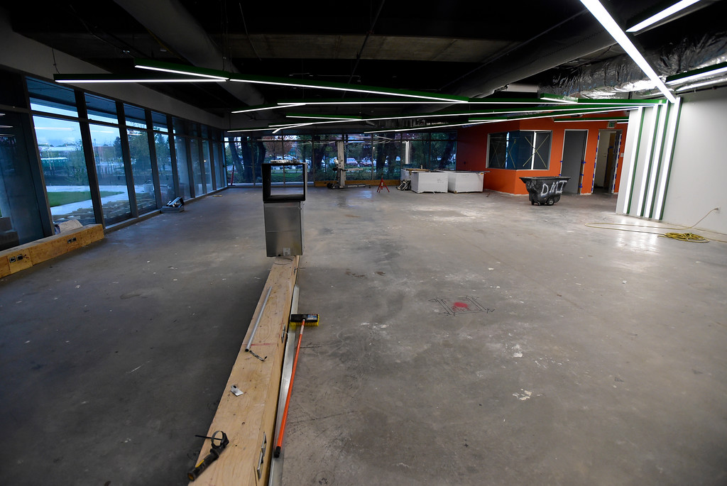 . The fitness area during a tour of the new Google campus on Pearl Street in Boulder. Jeremy Papasso/ Staff Photographer 10/02/2017