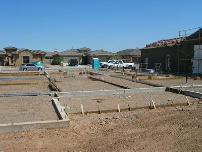 Ready for concrete slab - May 2005