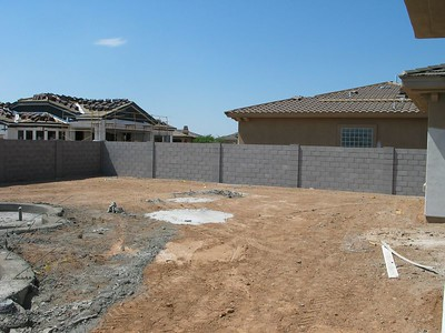 Tile is in and the pool is taking shape. - Sept 2005