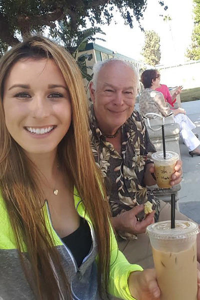 Lily meets Mark at the coffee cart. SDSU