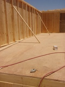 Floor Is In Place and the Walls Are Up