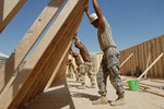 MCB-22 working with Army's 4th Engineer battalion.  U S Navy photo