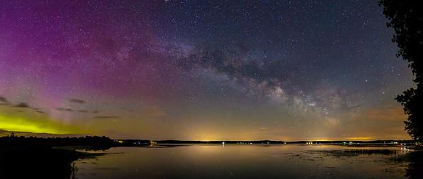 The Milky Way with Bonus Aurora