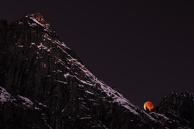 Lunar Eclipse Over Castle Crags