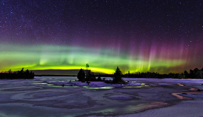 Green Glow in the Northern Sky