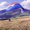 Latrigg : Paraglider Preparing To Launch (3)
