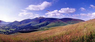Latrigg : Paraglider Over Skiddaw