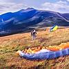 Latrigg : Paraglider PreparingTo Launch (2)